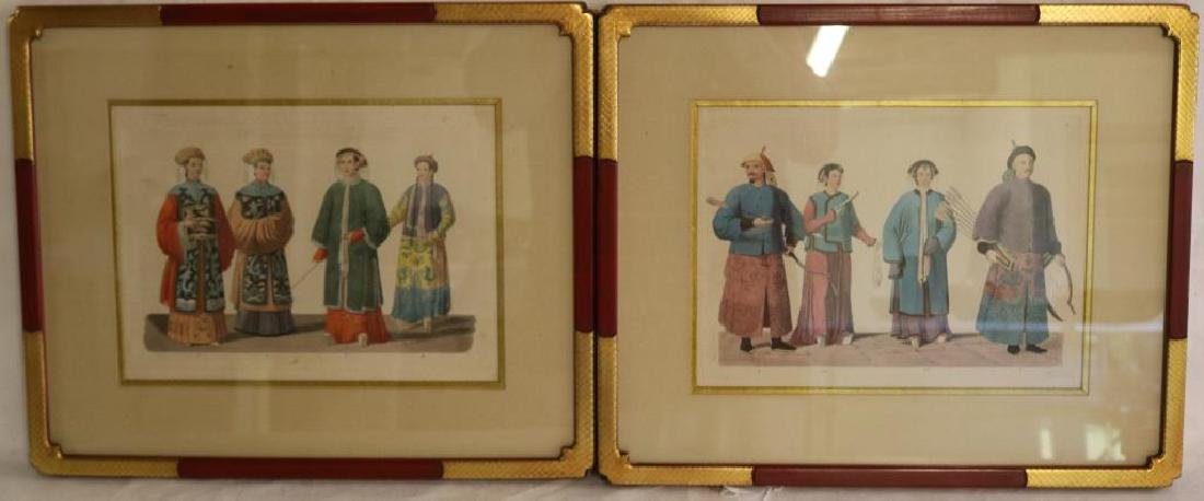 2 HAND COLORED 19TH C. ENGRAVINGS OF ASIAN