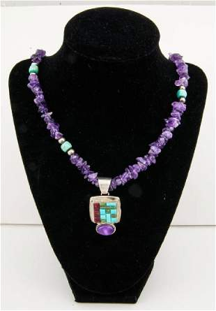 AMETHYST NECKLACE WITH PENDANT