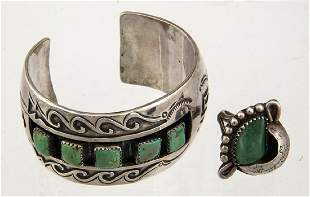 NAVAJO CUFF BRACELET AND RING