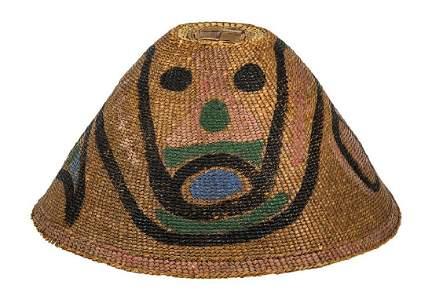RARE EARLY NORTHWEST COAST BASKETRY HAT