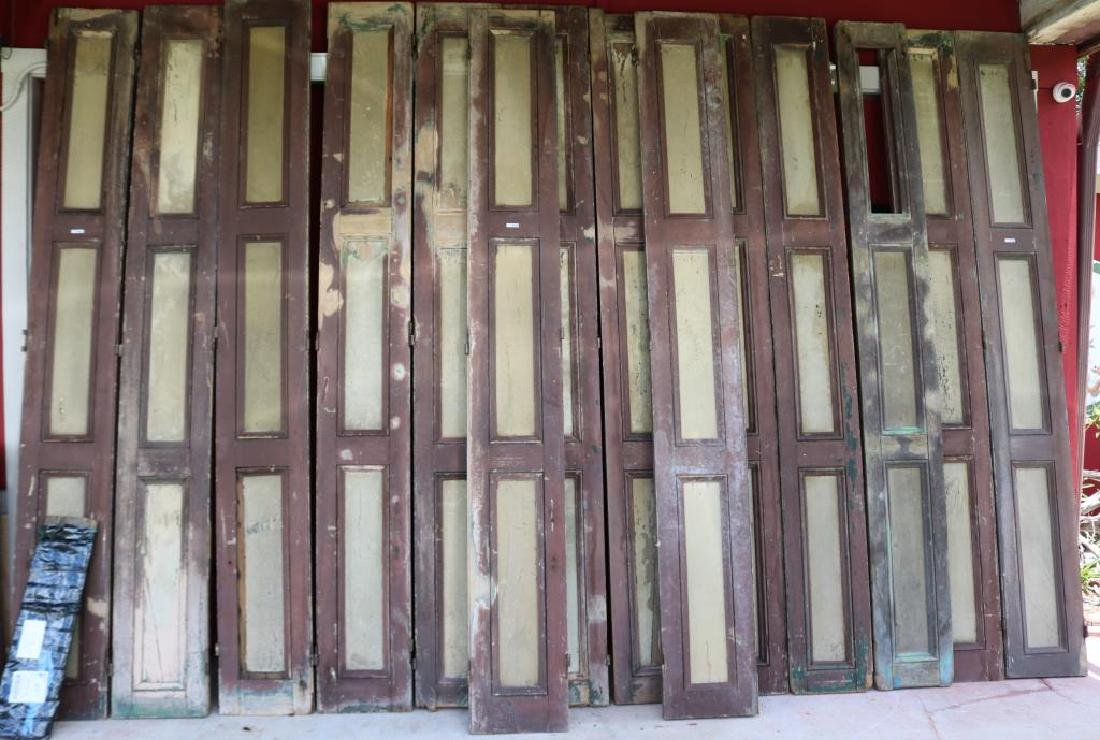LOT OF 14 EXTERIOR SHUTTERS