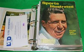 BINDER CONTAINING 22 SIGNED SPORTS ILLUSTRATED
