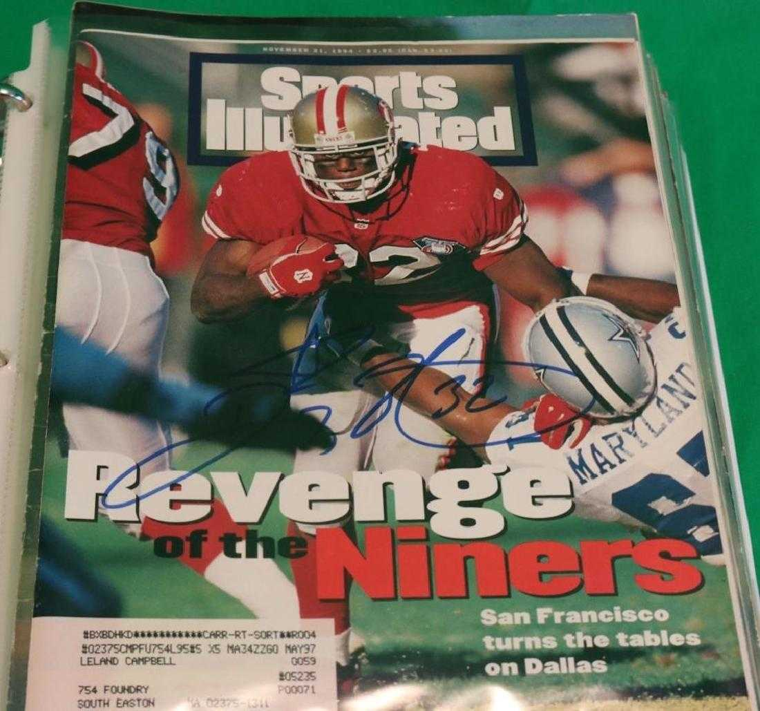 BINDER LOT OF 19 SIGNED SPORTS ILLUSTRATED