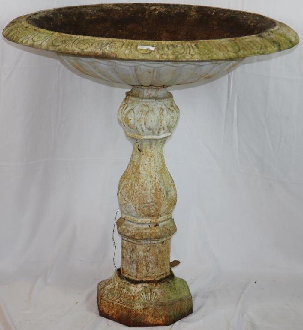 LARGE 19TH C. CAST IRON FOUNTAIN ON BASE