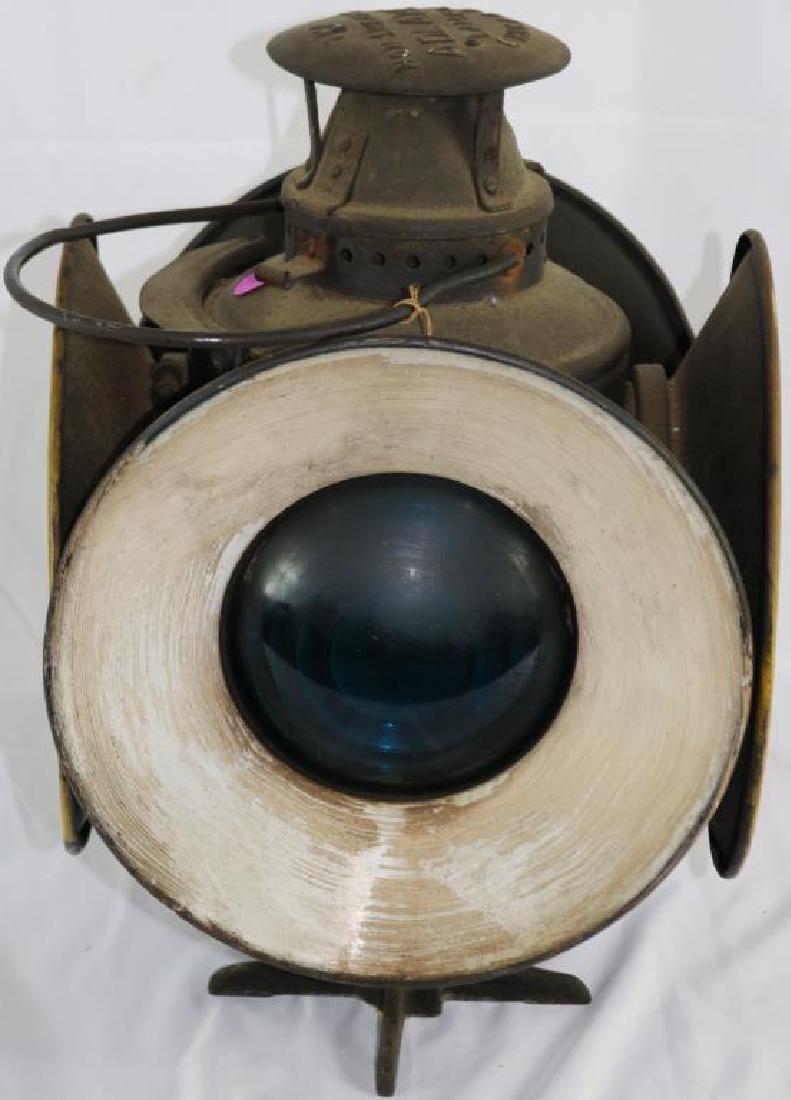 """ADLAKE 4 SIGNAL RAILROAD LAMP, 15 1/4"""" H, 10 1/2"""""""