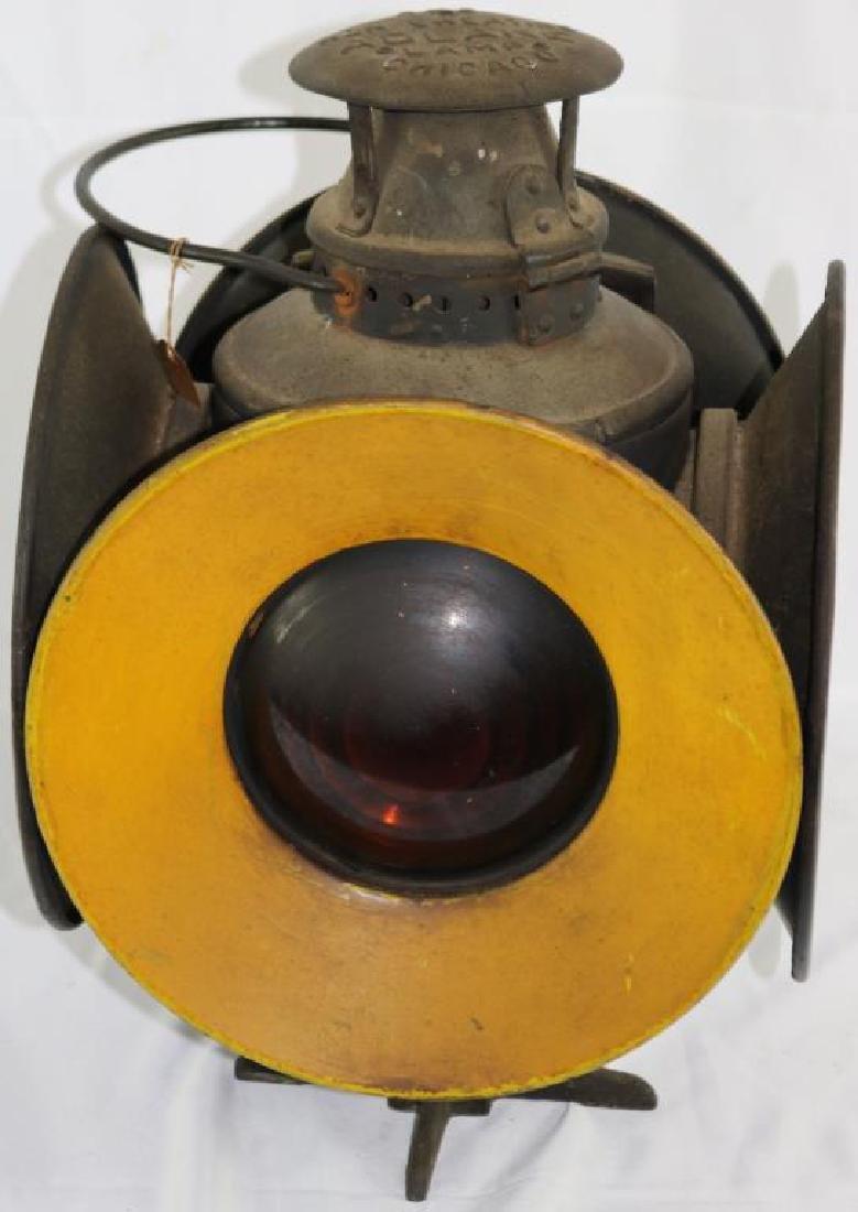 """ADLAKE 4 SIGNAL RAILROAD LAMP, 15 1/4"""" H, 10 1/2"""" - 3"""