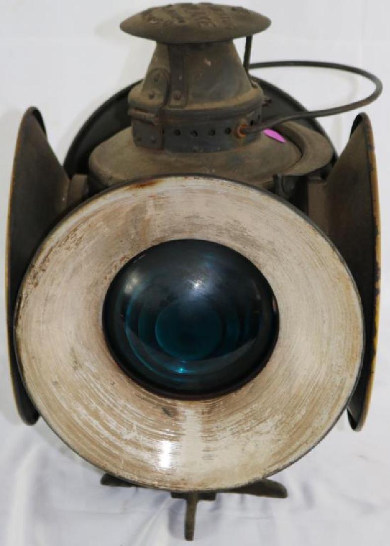 """ADLAKE 4 SIGNAL RAILROAD LAMP, 15 1/4"""" H, 10 1/2"""" - 4"""