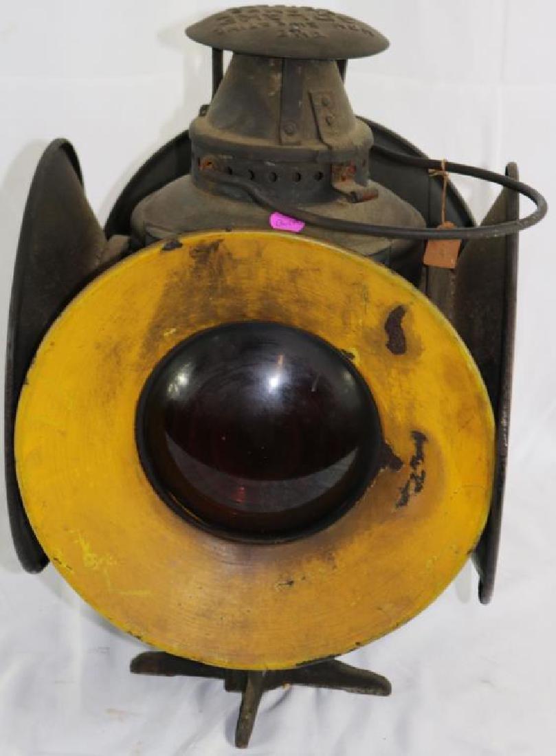 """ADLAKE 4 SIGNAL RAILROAD LAMP, 15 1/4"""" H, 10 1/2"""" - 5"""
