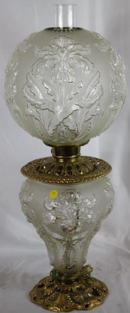 19TH C. ELECTRIC GONE WITH THE WIND LAMP WITH