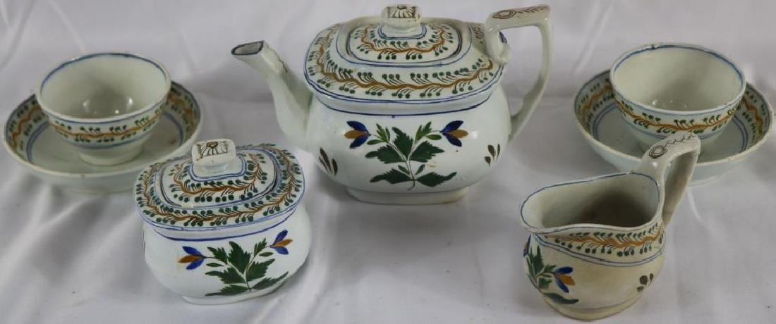 EARLY 19TH C. SEVEN PC.  POLY CHROME, SOFT PACED,
