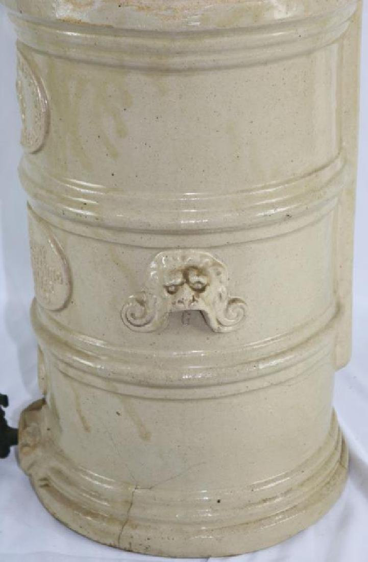 19TH C. STONEWARE WATER FILTER BY CHEAVINS - 2