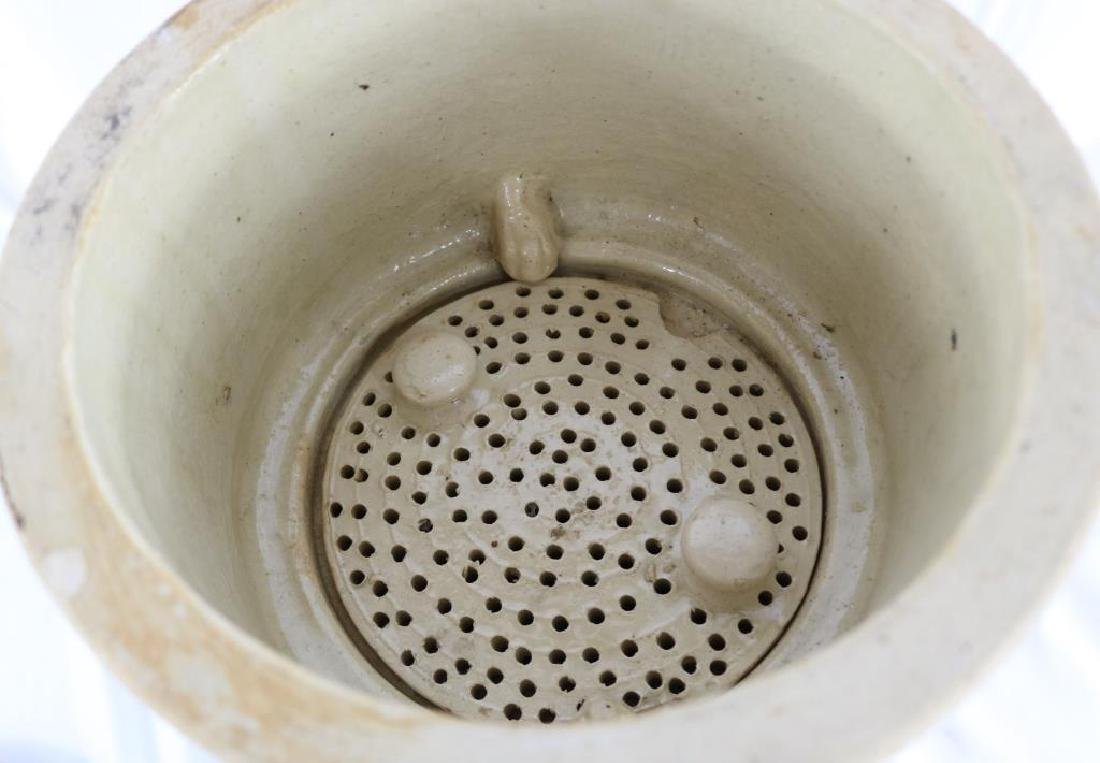 19TH C. STONEWARE WATER FILTER BY CHEAVINS - 3