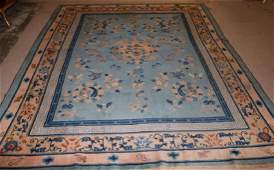SEMI ANTIQUE CHINESE AREA RUG WITH DRAGON CENTER,