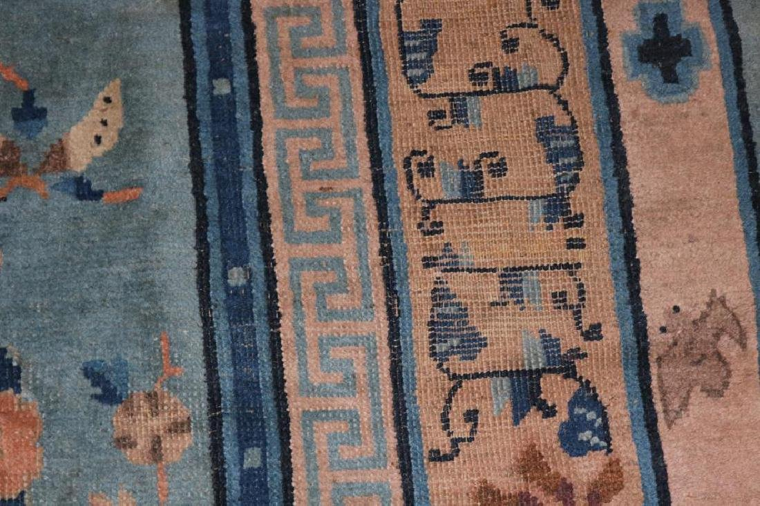 SEMI ANTIQUE CHINESE AREA RUG WITH DRAGON CENTER, - 2