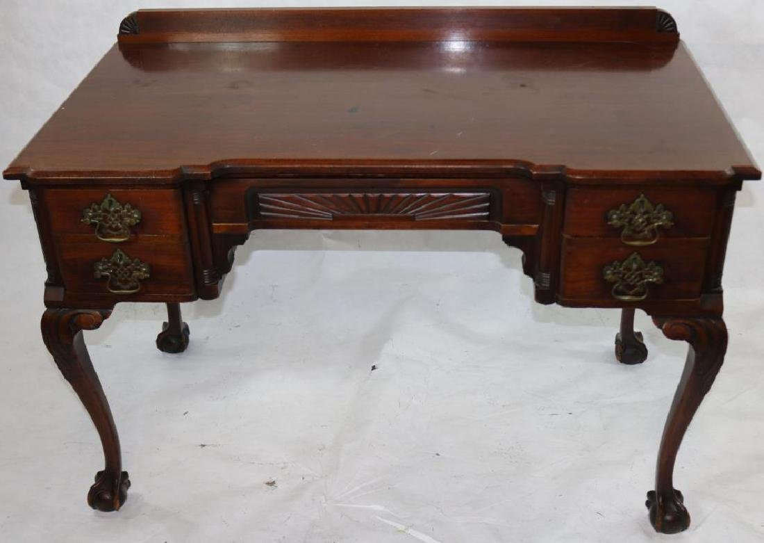 LATE 19TH C. CHIPPENDALE STYLE BLOCK FRONT