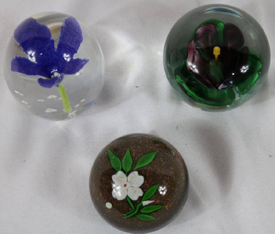 3 FLORAL DESIGN PAPERWEIGHTS TO INCLUDE DOGWOOD