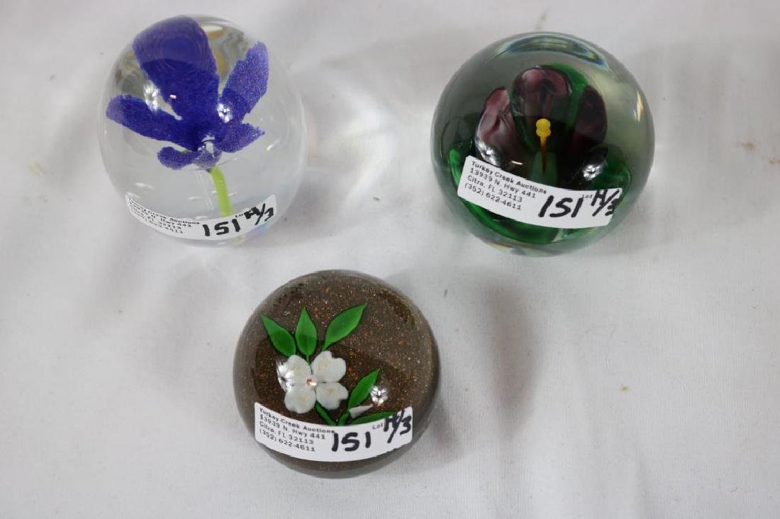 3 FLORAL DESIGN PAPERWEIGHTS TO INCLUDE DOGWOOD - 2