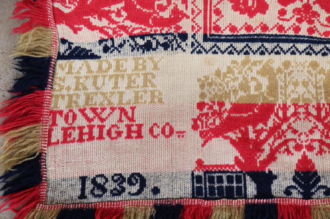 1839 JACQUARD COVERLET MADE BY S. KUTER - 2