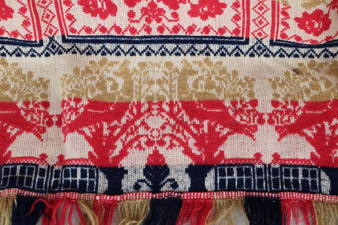 1839 JACQUARD COVERLET MADE BY S. KUTER - 3