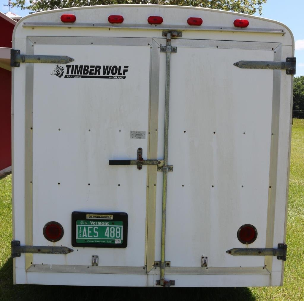 1998 TIMBER WOLF COVERED TRAILER, 7000 GVW, - 3