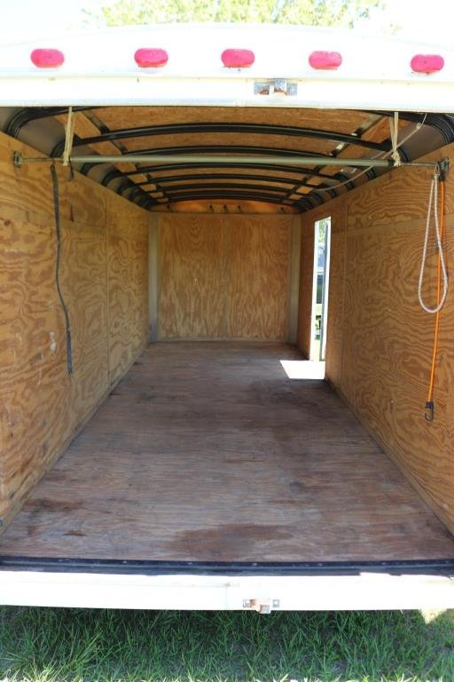 1998 TIMBER WOLF COVERED TRAILER, 7000 GVW, - 4