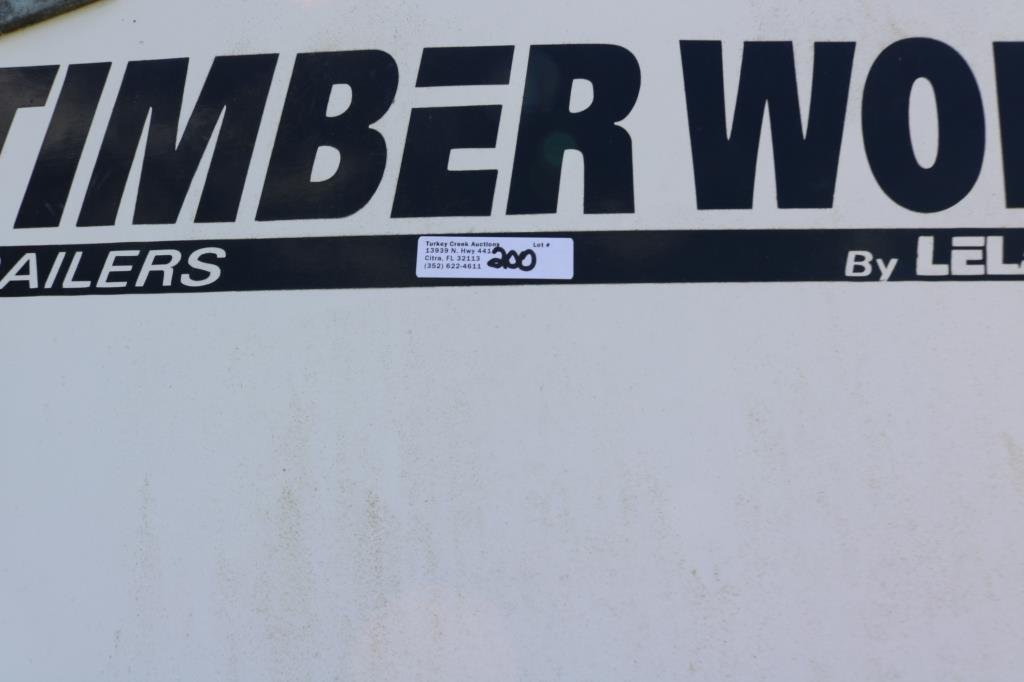 1998 TIMBER WOLF COVERED TRAILER, 7000 GVW, - 5