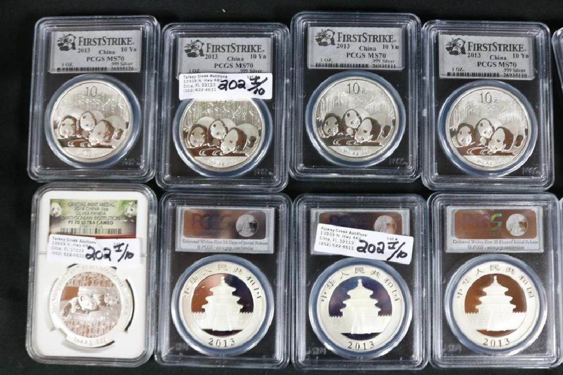 COLLECTION OF (9) 2013, (1) 2014 PCGS MS-70 - 2