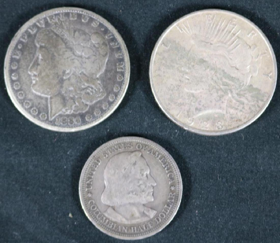 LOT OF 3 US SILVER COINS TO INCLUDE 1884 MORGAN,