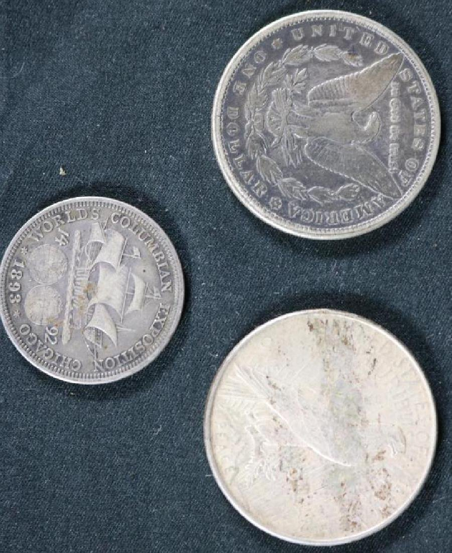 LOT OF 3 US SILVER COINS TO INCLUDE 1884 MORGAN, - 2