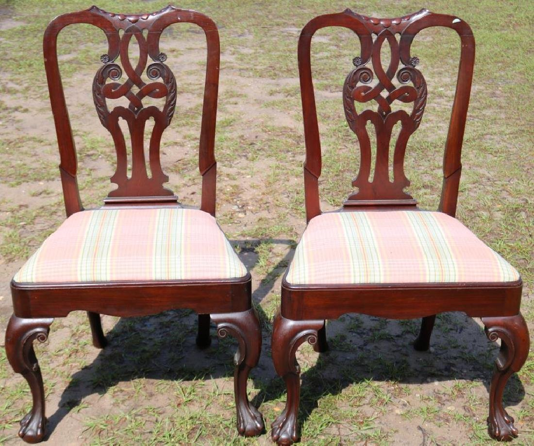 PAIR OF EXCELLENT CARVED MAHOGANY CHIPPENDALE
