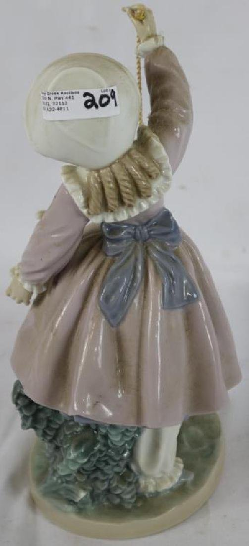 LLADRO FIGURE, GIRL WITH BALL PLAYING WITH DOG, - 2