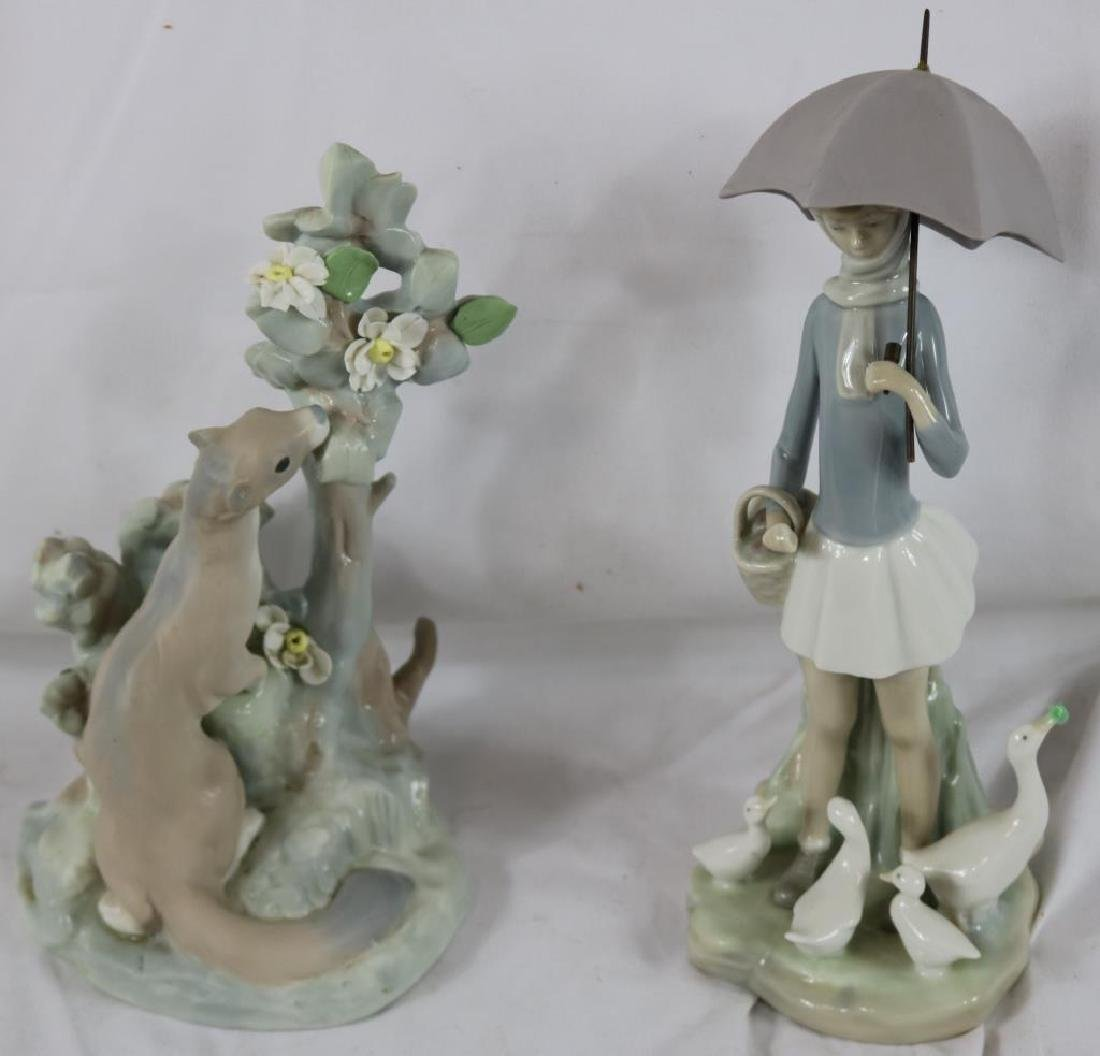 "3 LLADRO FIGURES TO INCLUDE OTTER, 9 1/2"" H,"