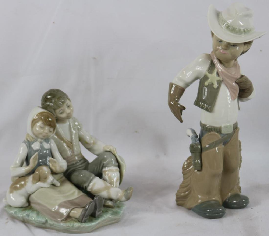 """2 LLADRO FIGURES TO INCLUDE COWBOY, 11"""" H, AND"""