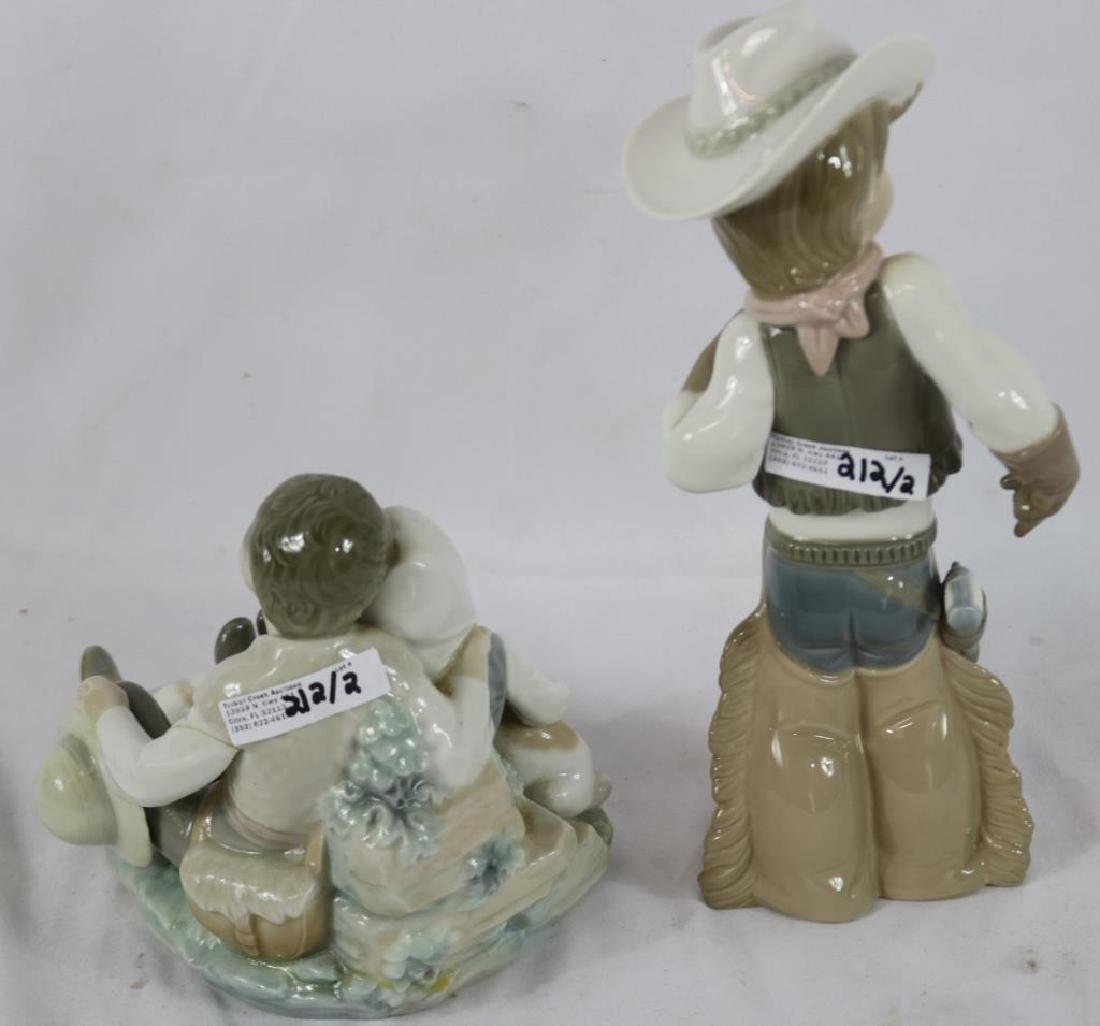 """2 LLADRO FIGURES TO INCLUDE COWBOY, 11"""" H, AND - 2"""