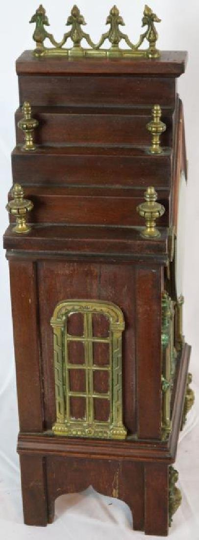 UNUSUAL GOTHIC CATHEDRAL STYLE SHELF CLOCK WITH - 2
