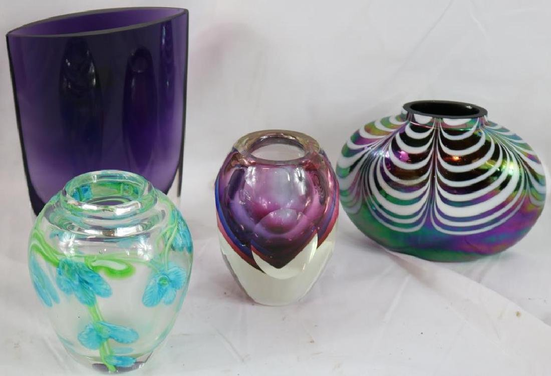 COLLECTION OF 4 PCS. CONTEMPORARY ART GLASS 5