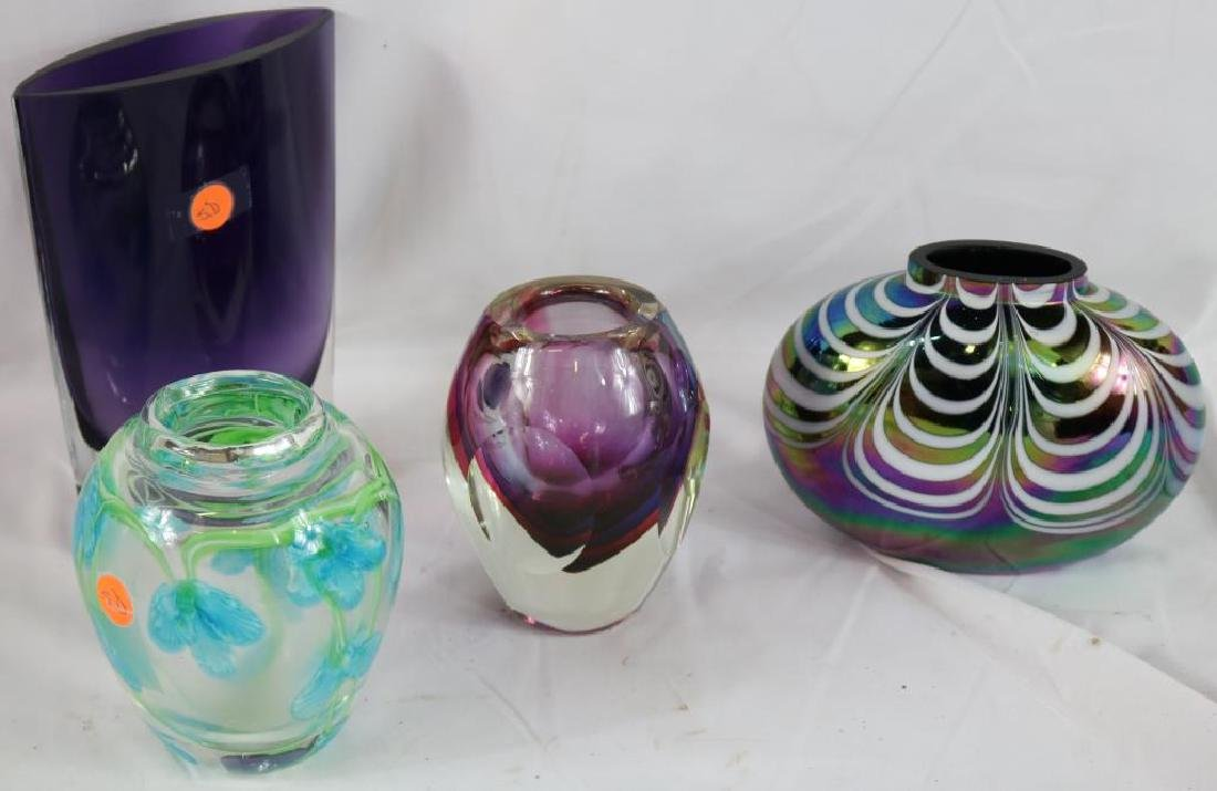 COLLECTION OF 4 PCS. CONTEMPORARY ART GLASS 5 - 2