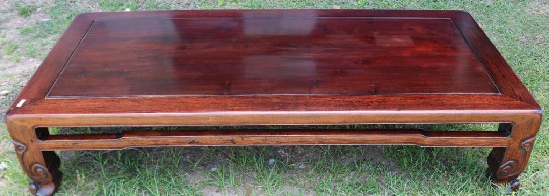 EARLY 20TH C. CARVED TEAK ORIENTAL LOW TABLE,