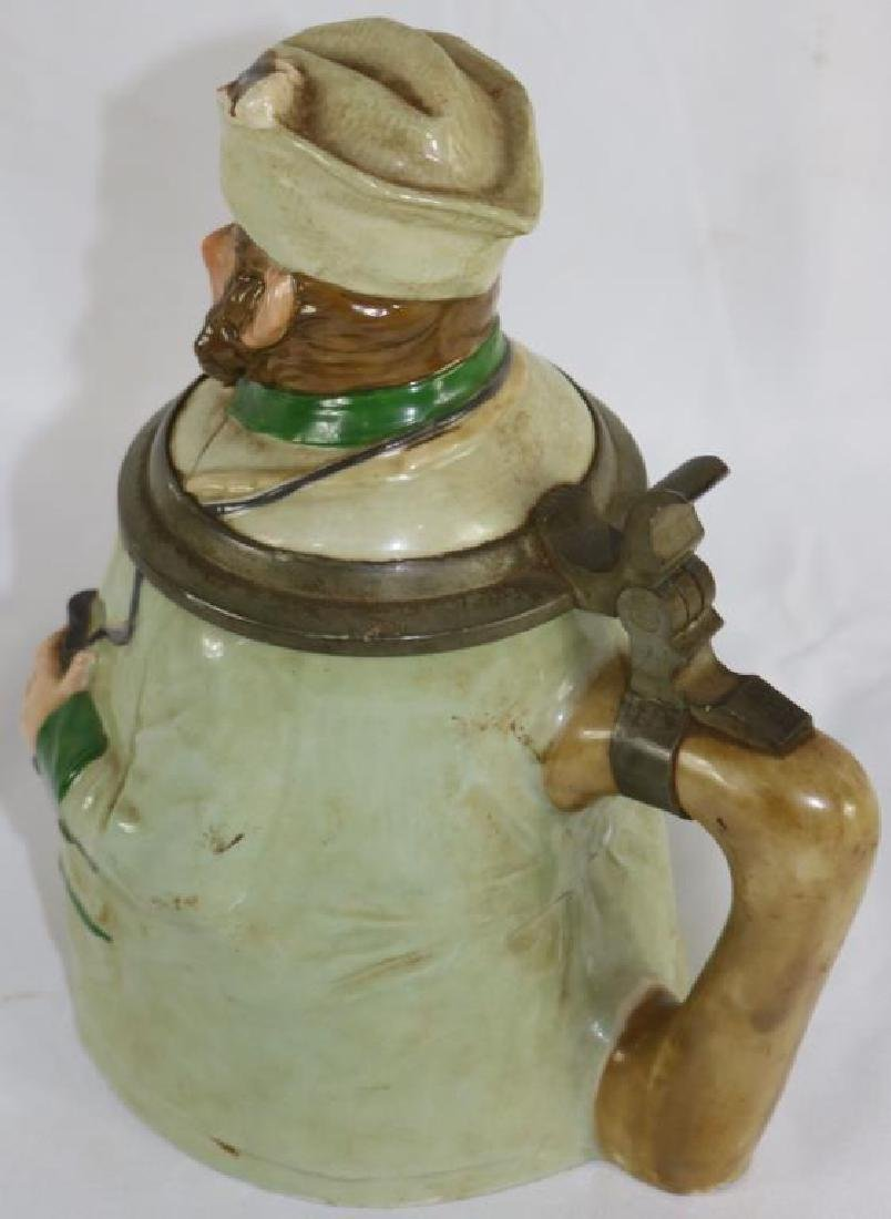 GERMAN PORCELAIN FIGURAL STEIN DEPICTING MAN WITH - 2