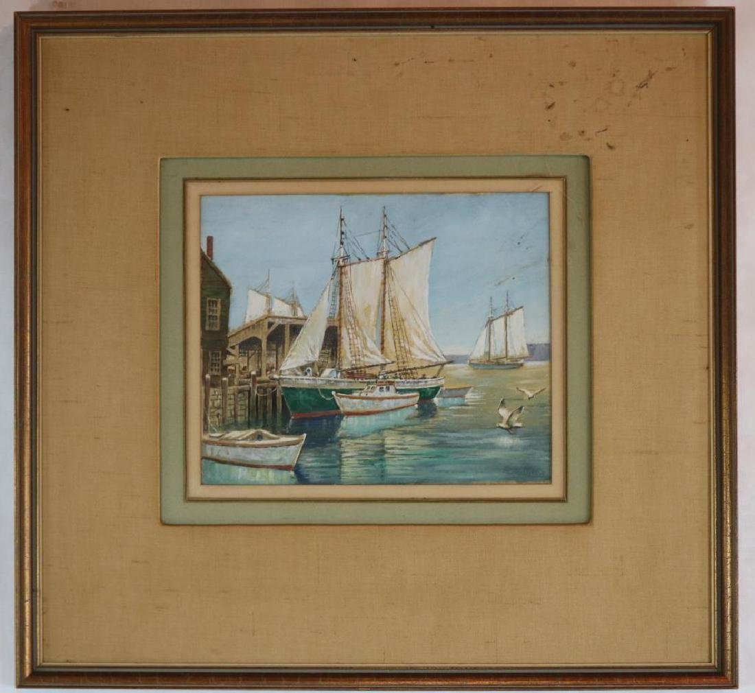 FRAMED & GLAZED WATERCOLOR SIGNED G.A. BRADSHAW,