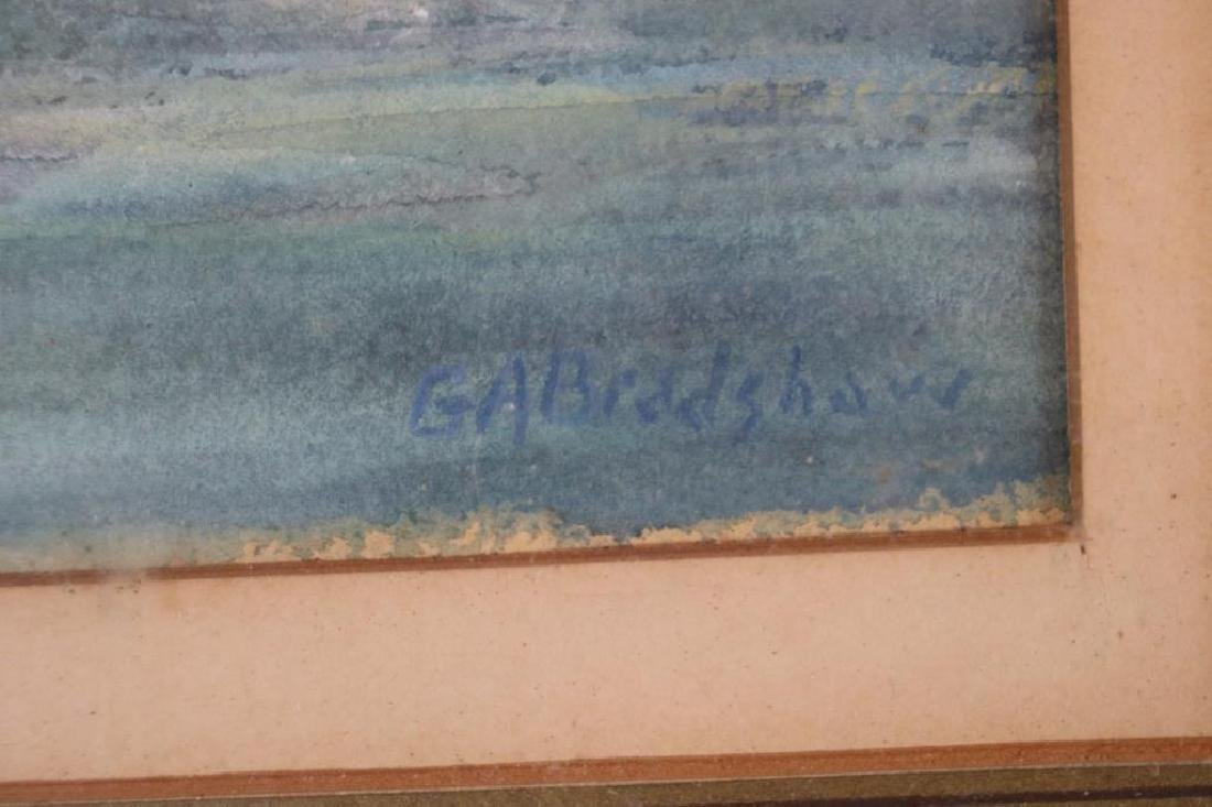 FRAMED & GLAZED WATERCOLOR SIGNED G.A. BRADSHAW, - 2