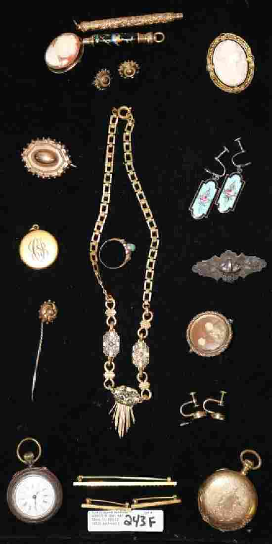 APPROX. 20 PCS. OF VICTORIAN JEWELRY TO INCLUDE