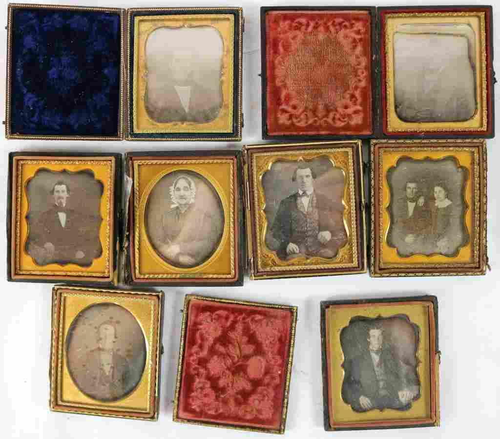 EIGHT MID 91TH C. DAGUERREOTYPE, ONE WITH DOUBLE