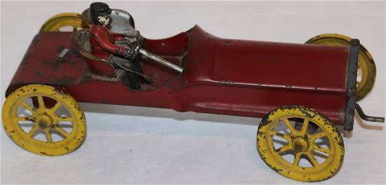 TWO EARLY 19TH C. OPEN CARS WITH DRIVES ONE METAL