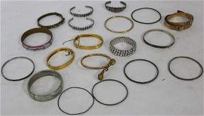 COLLECTION OF 20 STERLING SILVER, GOLD FILLED