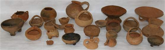 COLLECTION OF APPROX. 23 PRE-COLUMBIAN POTS,