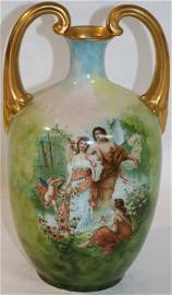 ROYAL ART DOUBLE HANDLED VASE WITH CLASSICAL