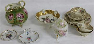 COLLECTION OF 12 PCS PORCELAIN TO INCLUDE
