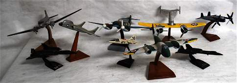 THIRTEEN MODEL AIRPLANES INCL US AIR FORCE USS