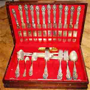 STERLING FLATWARE 66 PIECE BY ROGERS ? ART